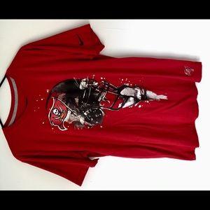 Red Nike Tampa Bay Shirt Men's Medium